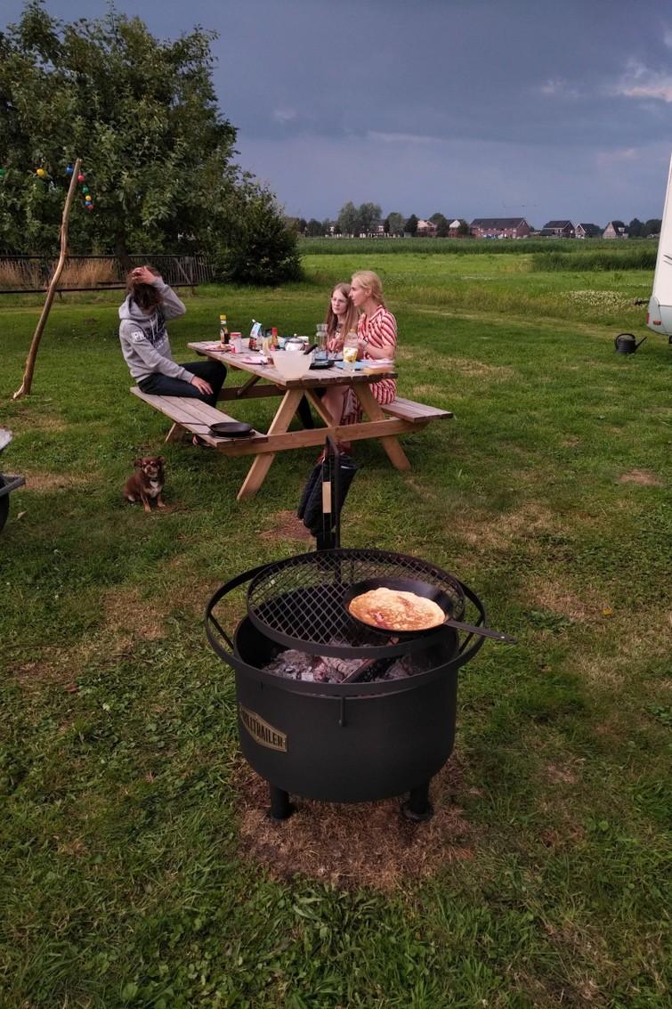 "24"" Fire Pit, Openvuur BBQ, Tuinhaard, Vuurkorf 8mm staal"