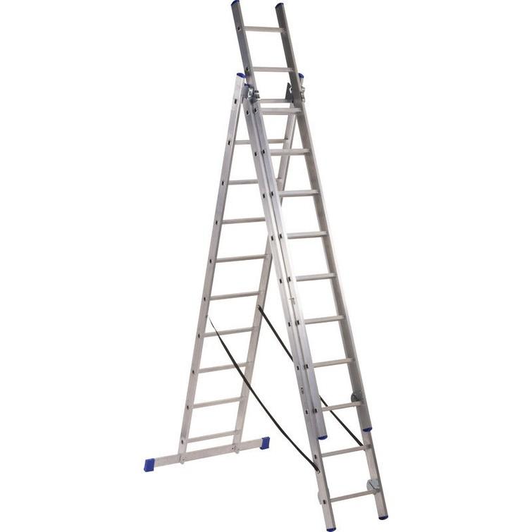 reform ladder 3 delig 9 treden 240cm per deel; ook als uitschuif te gebruiken