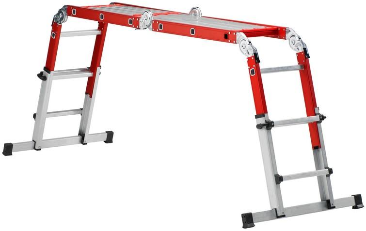 Multifunctionele ladder, te gebruiken als steiger of gewone ladder