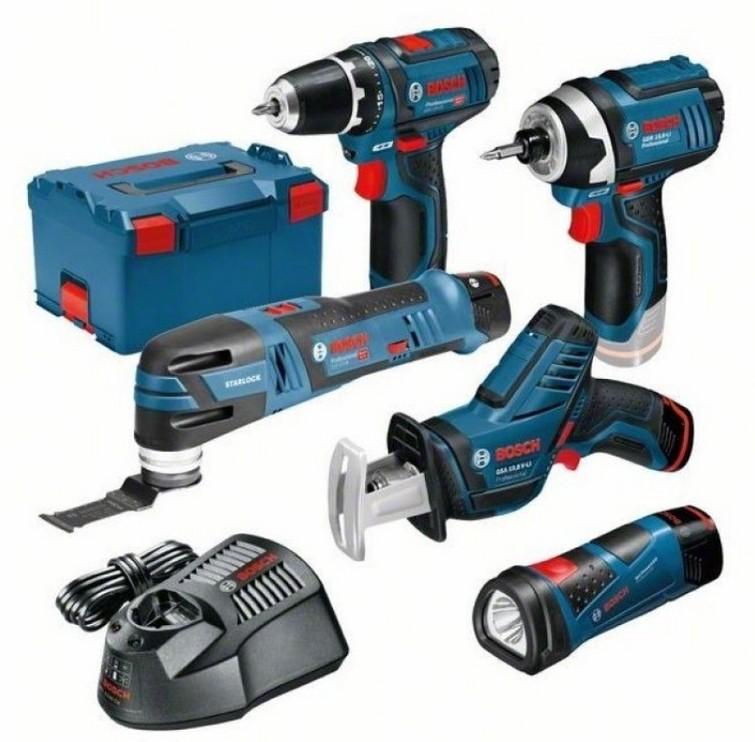 Accu gereedschap,  schroefboormachine, reciprozaag, multitool en slagschroevendraaier