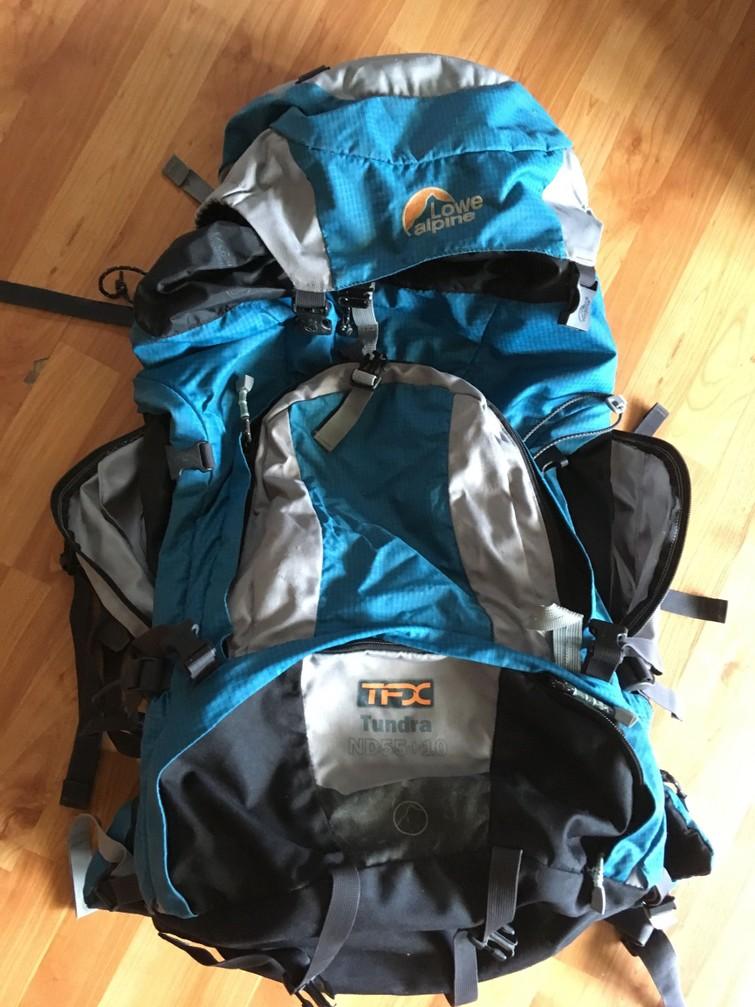 Fijne backpack, Lowe Alpine, voor vrouwen, 55+10 Liter