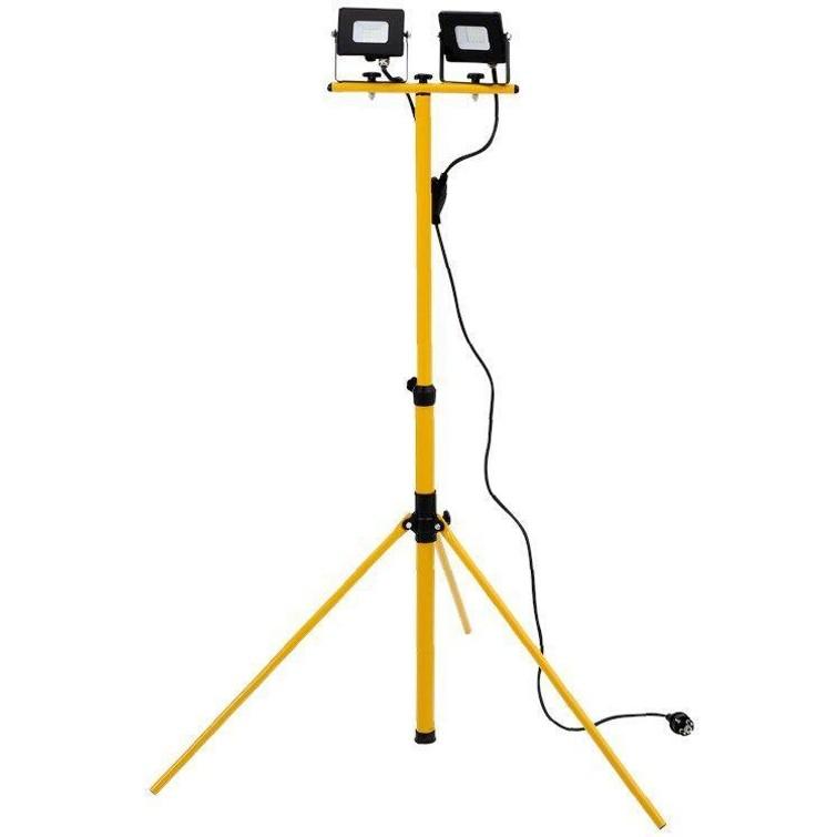 Bouwlamp spots op statief verstelbaar tot 154cm
