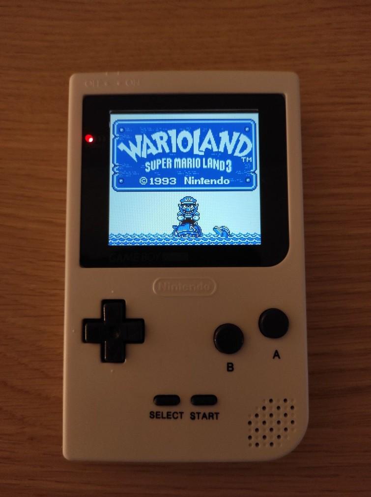Game Boy Pocket (GBP) | Screen Modded | White
