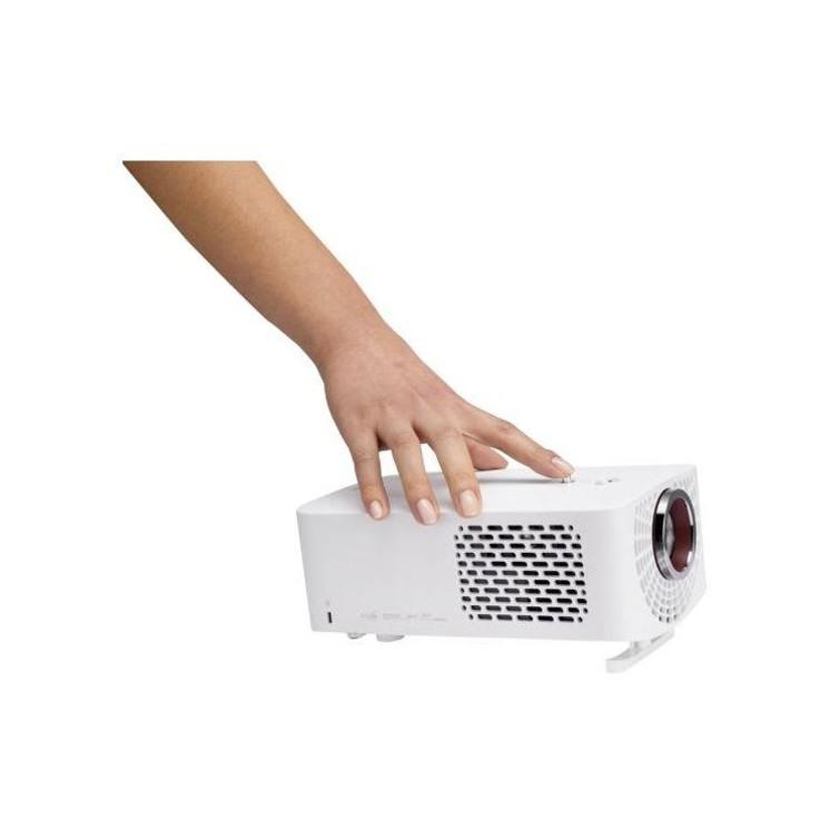 LED-Beamer, compact, werkt goed op korte afstand, bluetooth & bedraad geluid