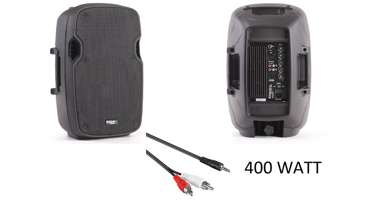 Muziekbox 400 Watt Jack-RCA aansluiting