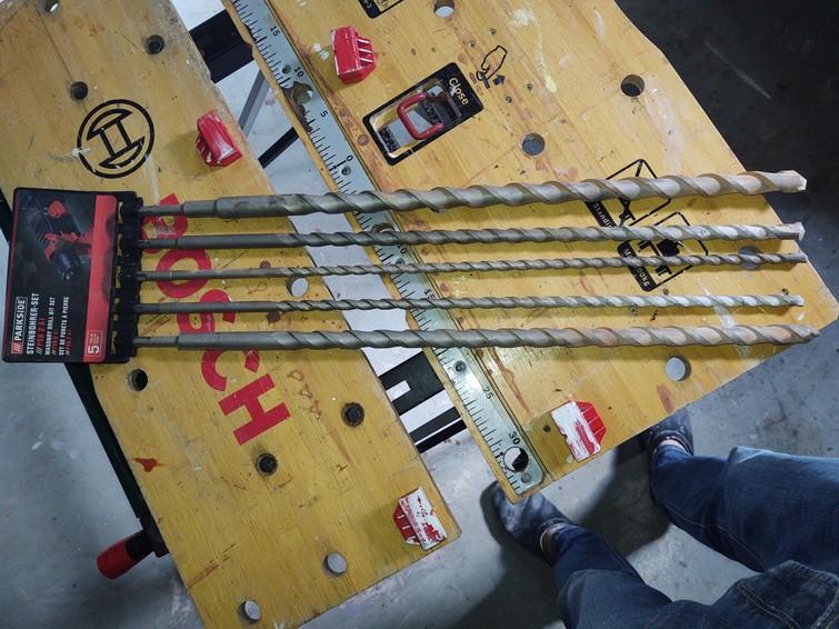 Lange betonboren  SDS 450 mm 10, 12, 16 ,20 en 25mm