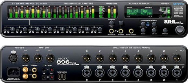 Geluidskaart MOTU 896 mk3 firewire