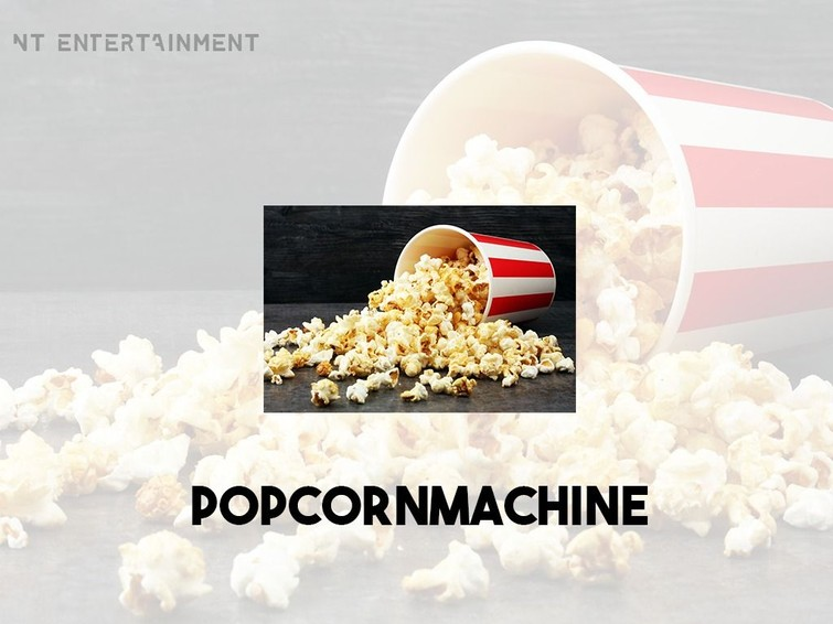 Popcornmachine incl. 100 porties popcprn