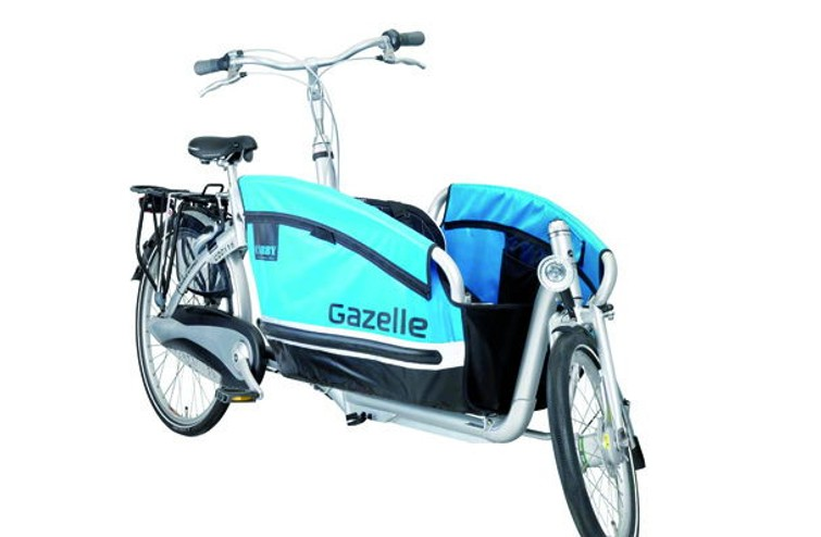 Gazelle Cabby met Maxi-Cosi adapters