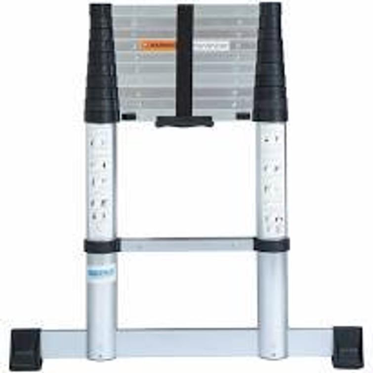 Telescoop ladder, aluminium uitschuifbaar tot 3.20 m