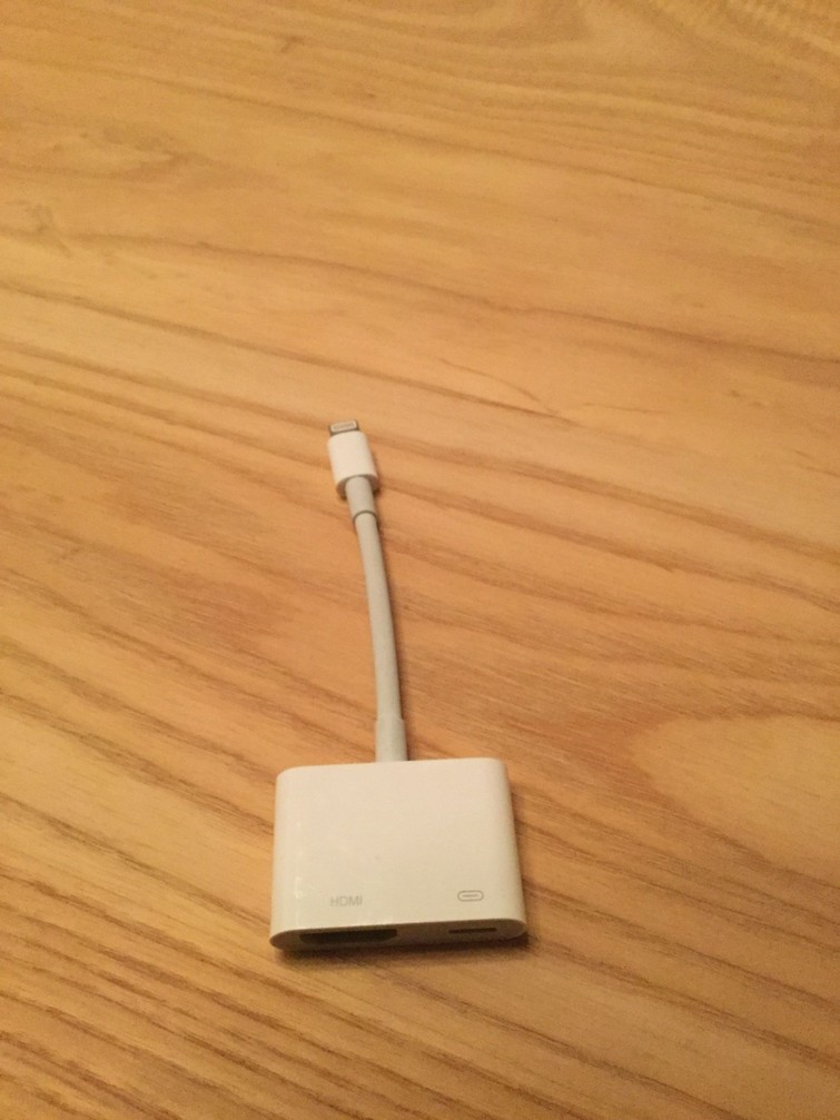 Adapter lightning to HDMI (iPhone)