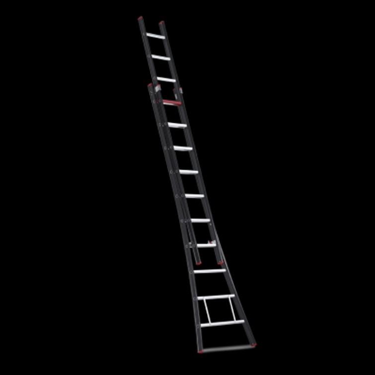 opsteekladder (uitschuifbaar) circa 7 meter werkhoogte