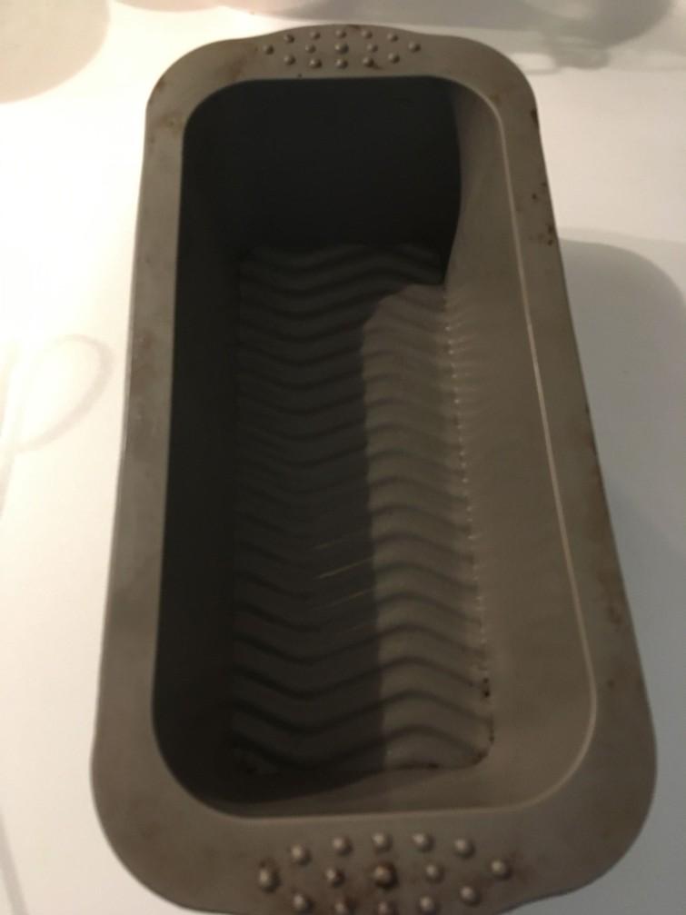 taartvorm, rechthoekig, rubberachtig, grijs