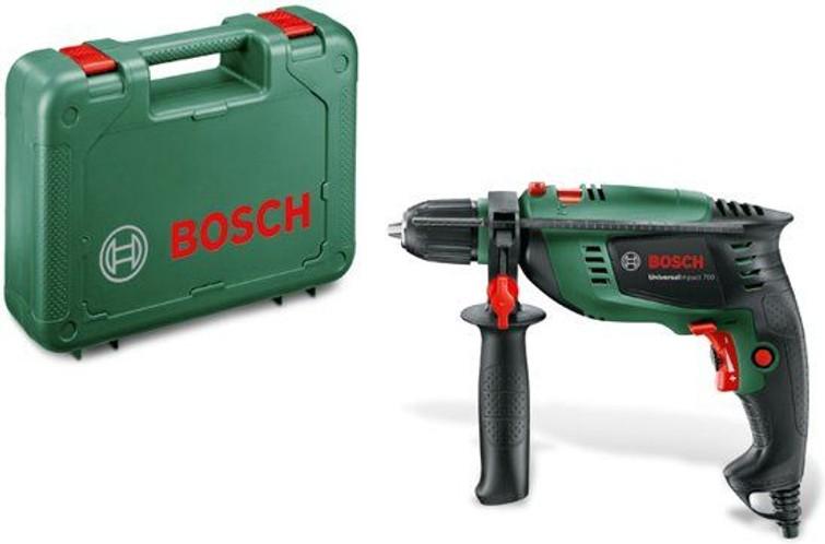 Bosch klopboormachine. De Bosch UniversalImpact 700 boormachine is de juiste klopboormachine voor al jouw klussen.
