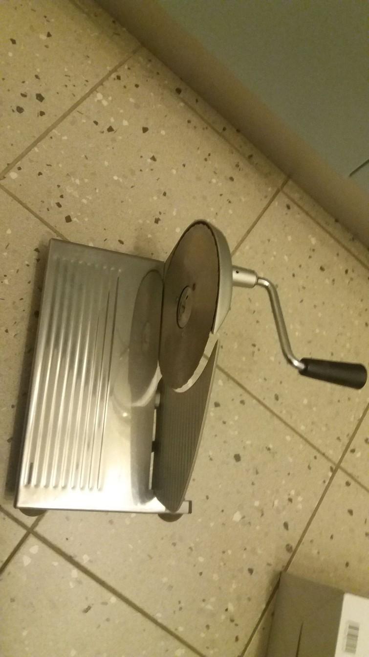 kleine manuele broodsnijmachine