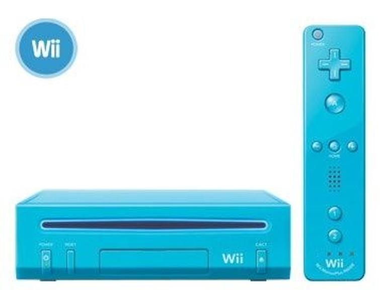 Blauwe Nintendo Wii