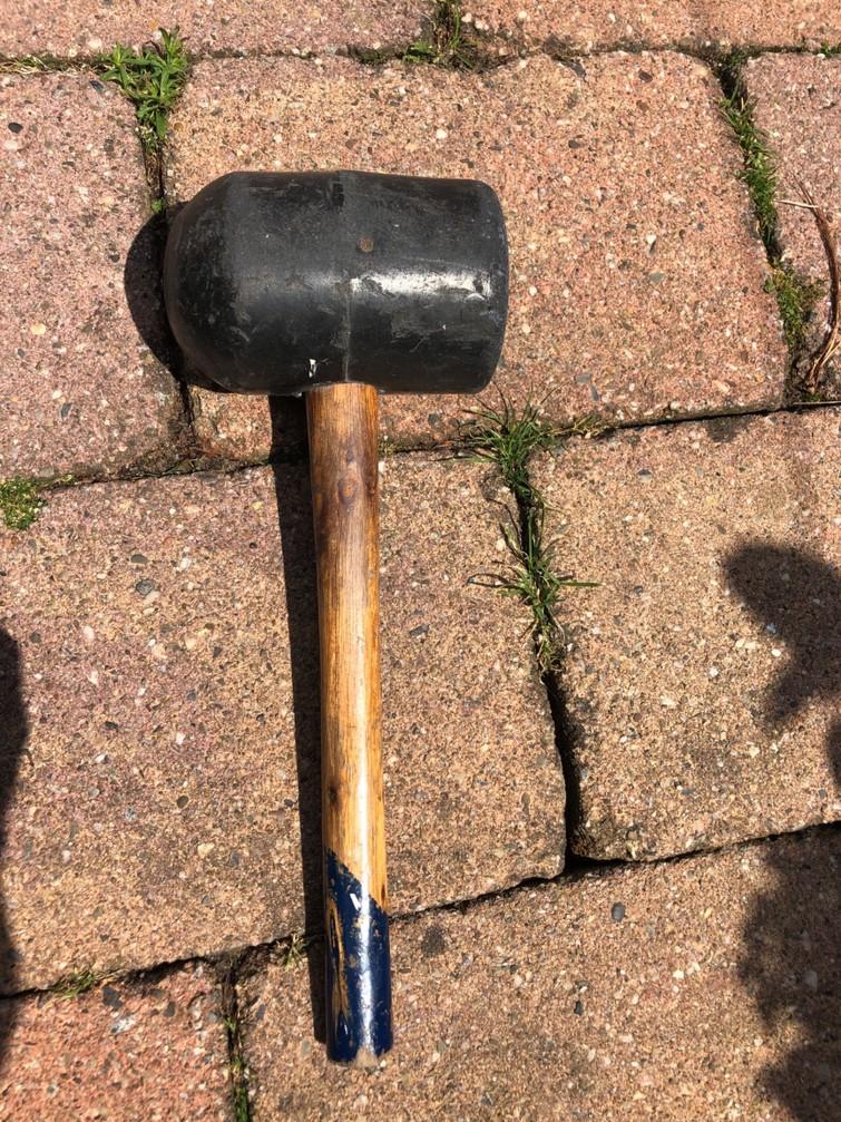 rubberen hamer