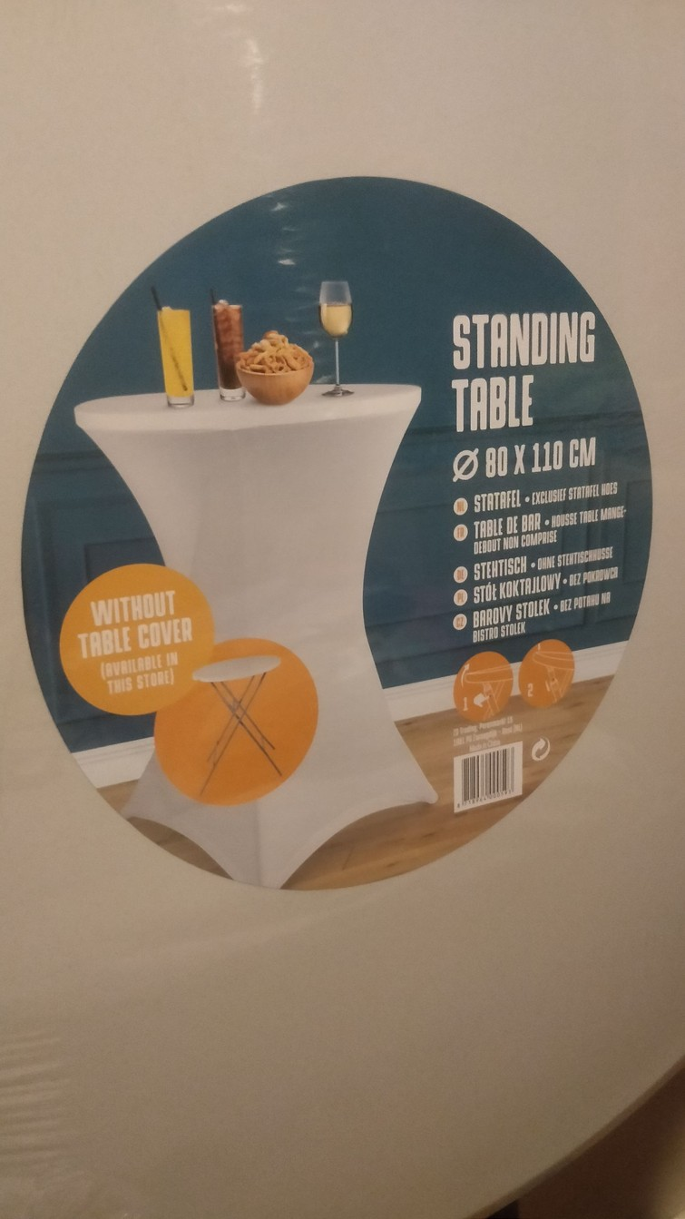 Statafel zonder rok/table cover