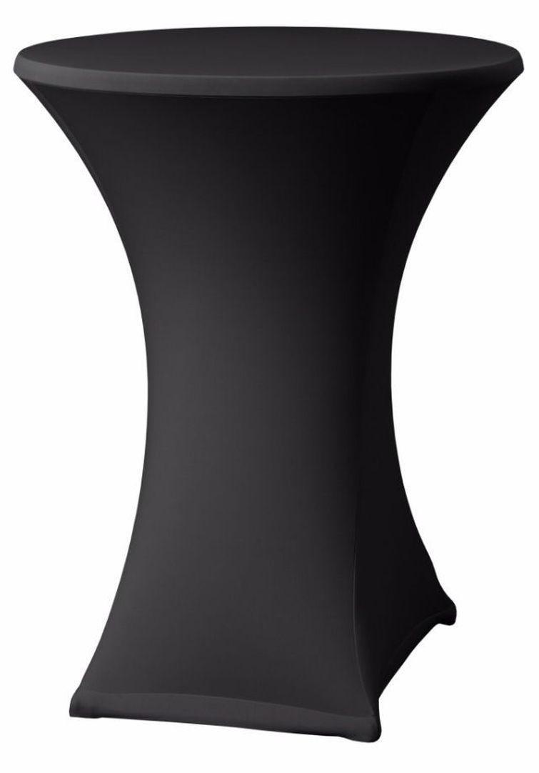 6 statafels met zwarte tafelrok