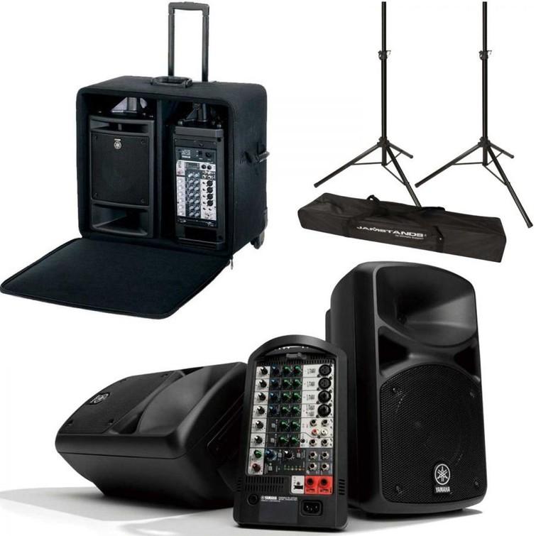 Compacte geluidsinstallatie voor presentaties en semi-akoestische optredens
