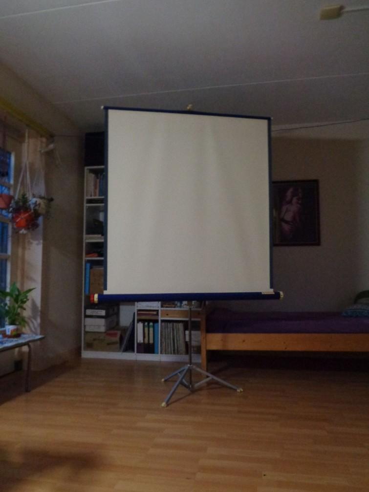 projectiescherm voor dia's
