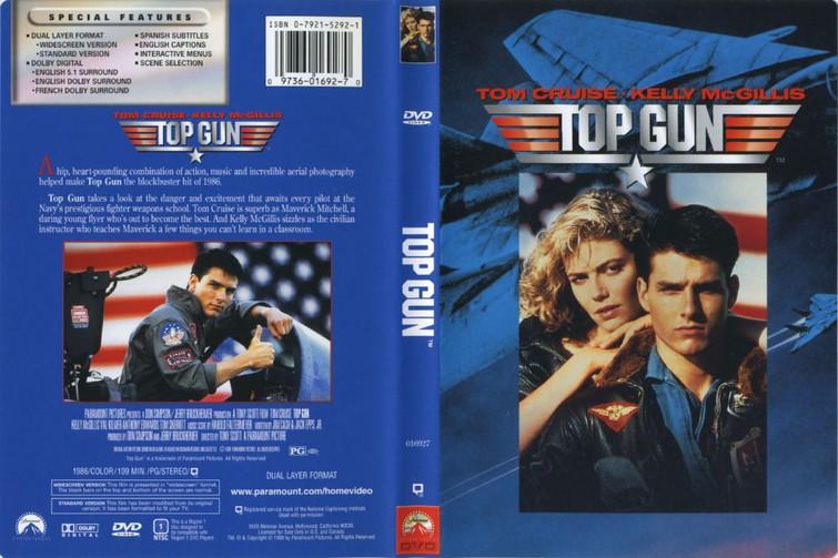 Top Gun (Tom Cruise & Kelly McGillis) 1986. - DVD