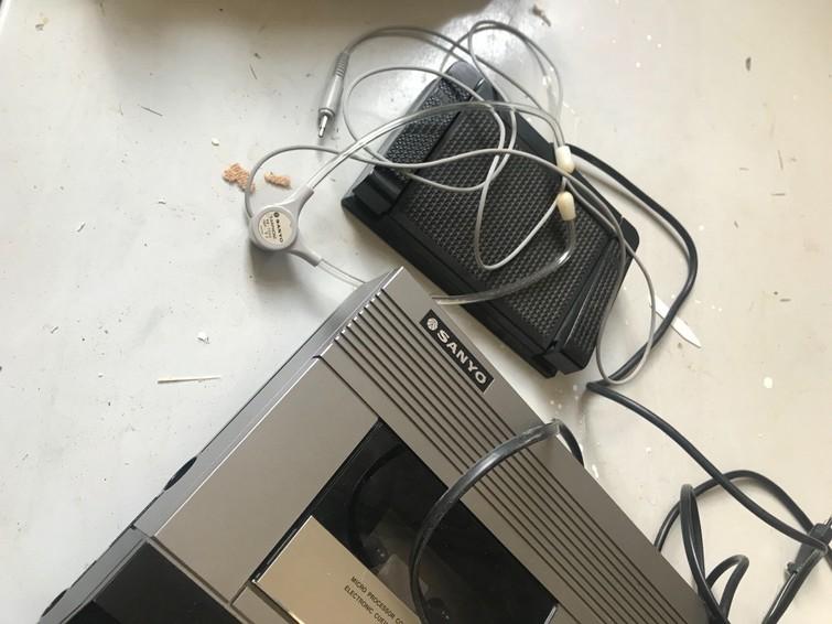 dicteercassette met voetpedaal