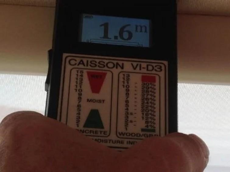 Professionele vochtmeter Caisson gebruikt door Caravan en Camper service bedrijven voor metingen