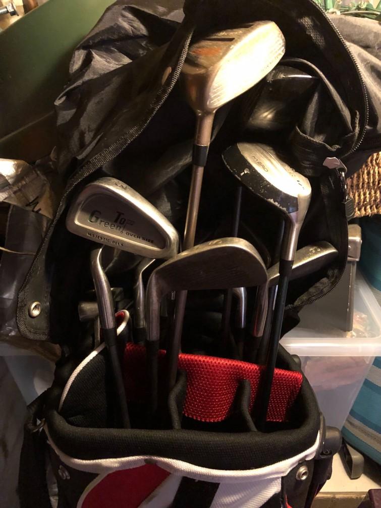 Golfset: tas met 12 clubs