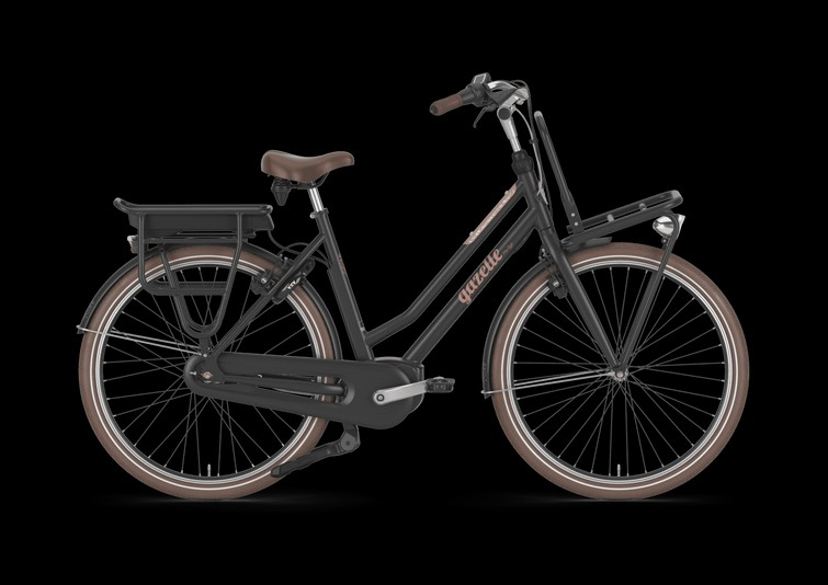 Elektrische fiets Gazelle damesfiets Yepp kinderzitje