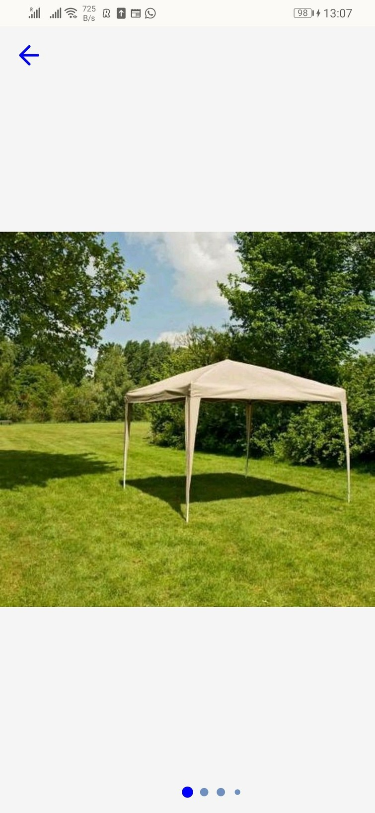 partytent 3x3 harmonica skelet