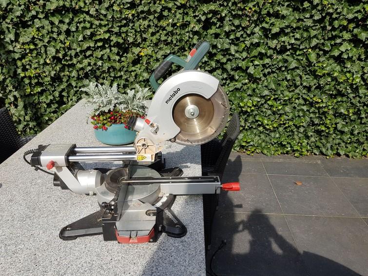 Metabo Afkortzaag met laser en trekfunctie ook voor dikker hout