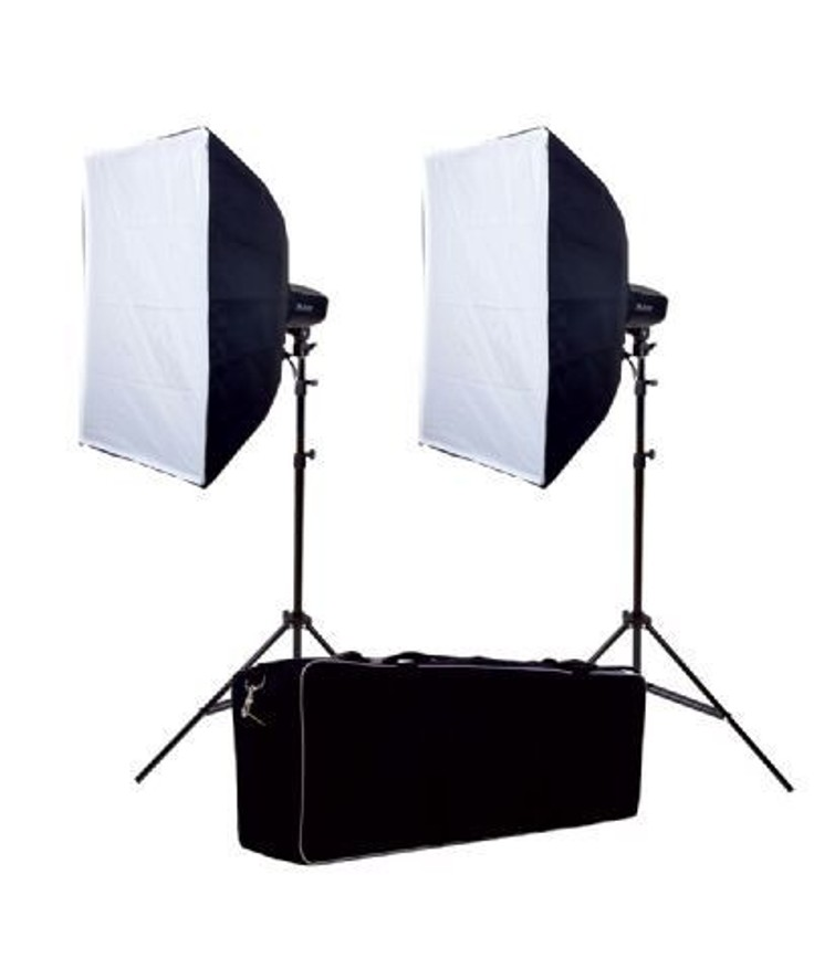 Softbox, set van 2 lampen