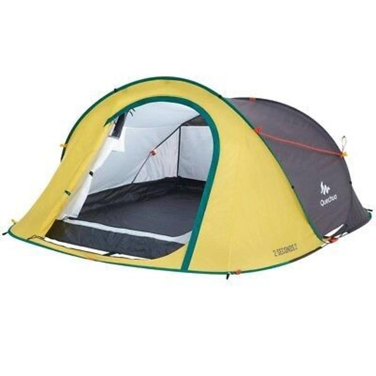 Quechua 2-3 persoons pop up kampeertent (met luchtbed)