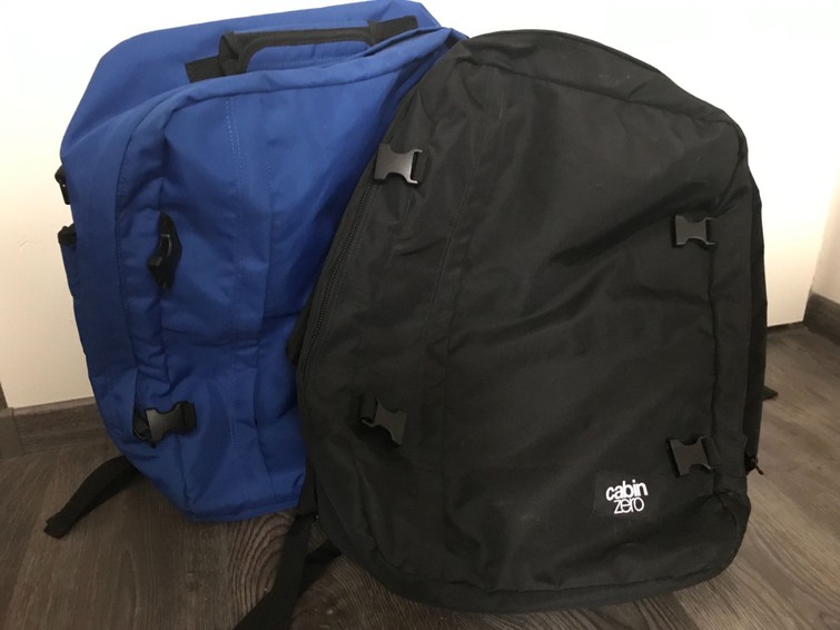 2 Reistassen - formaat handbagage 44x30x20