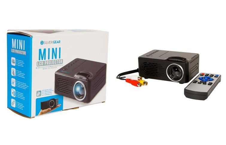 Mini LCD projector (beamer) met scherm