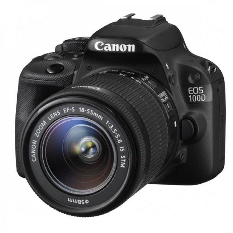 Canon 100D spiegelreflex camera met lenzen