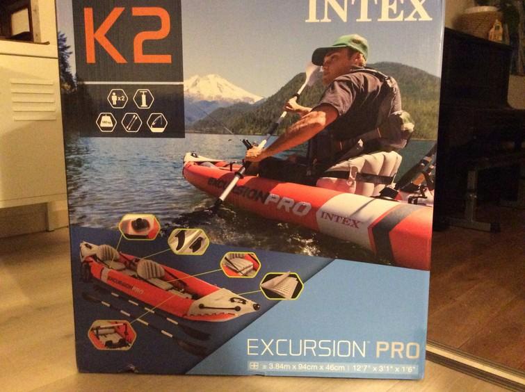 Kano kajak opblaasbaar Excursion Pro K2 Intex 2 personen