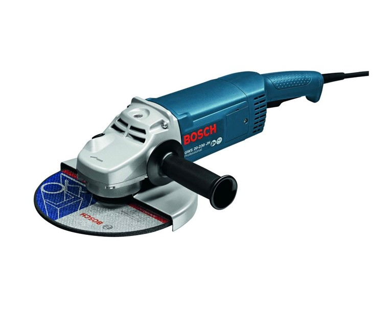 Haakse slijper Bosch incl. diamantzaagblad - 2200W - 230mm - in koffer