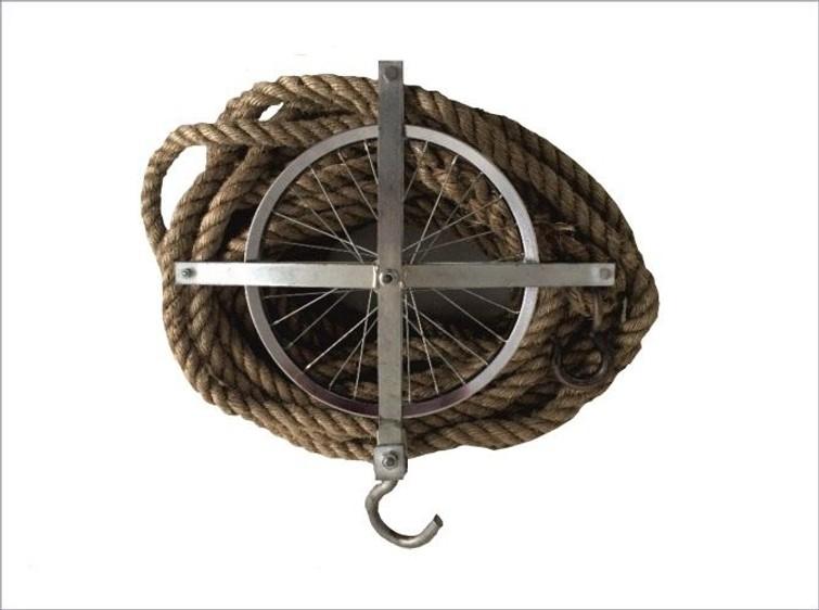 touw en blok + afhoudtouw | geen net
