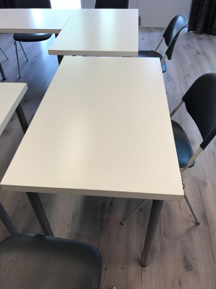 Witte tafels 100x60 cm