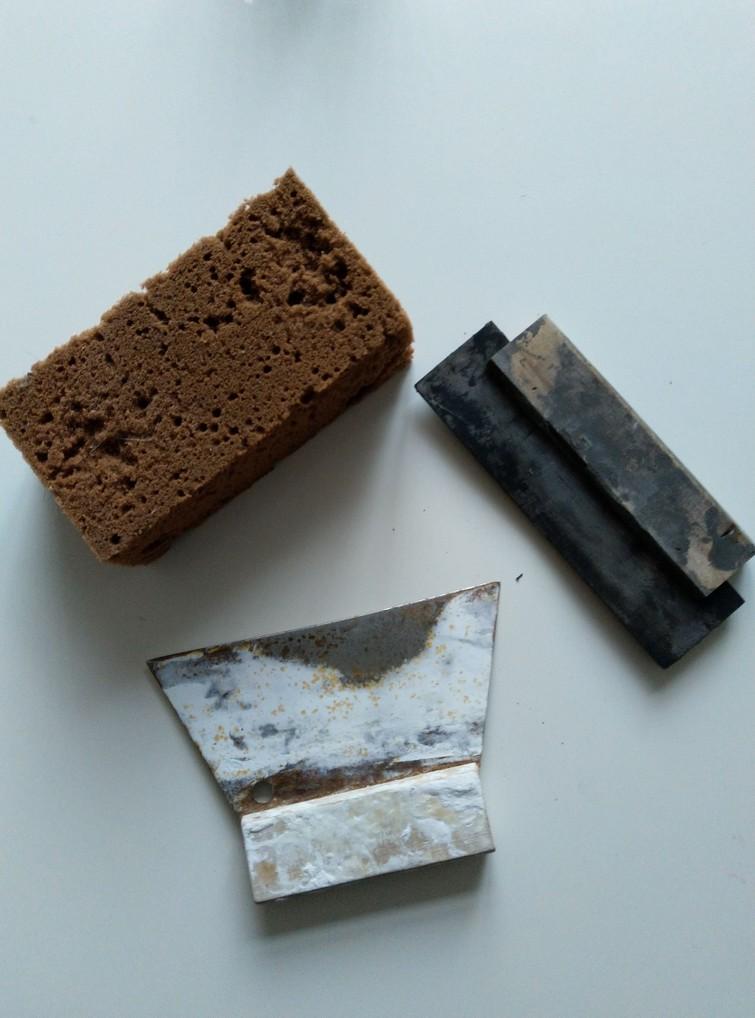 Inwasspaan/ voegspaan en spons