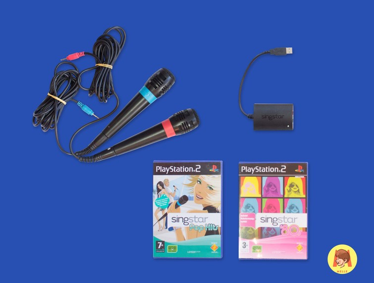 Singstar (Playstation 2) + 2 Mics + 2 Games naar keuze
