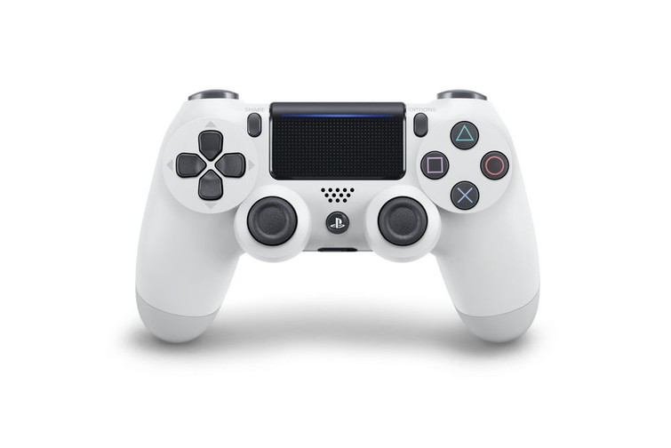 White ps4 playstation 4 controller