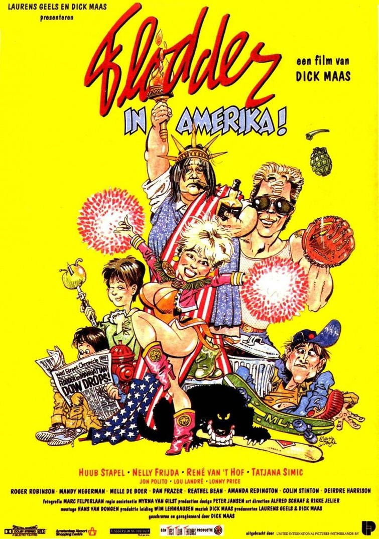 Flodder 2 : Flodder In Amerika (Dick Maas & Tatjana Simic) 3 Juli 1992. DVD