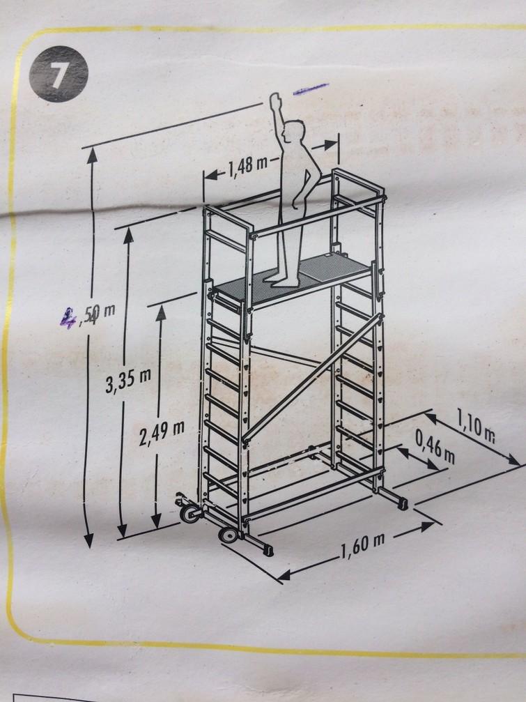 binnensteiger/stelling om plafond van 4m20 te bereiken