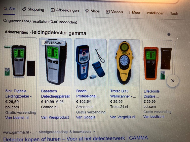 Leiding detector