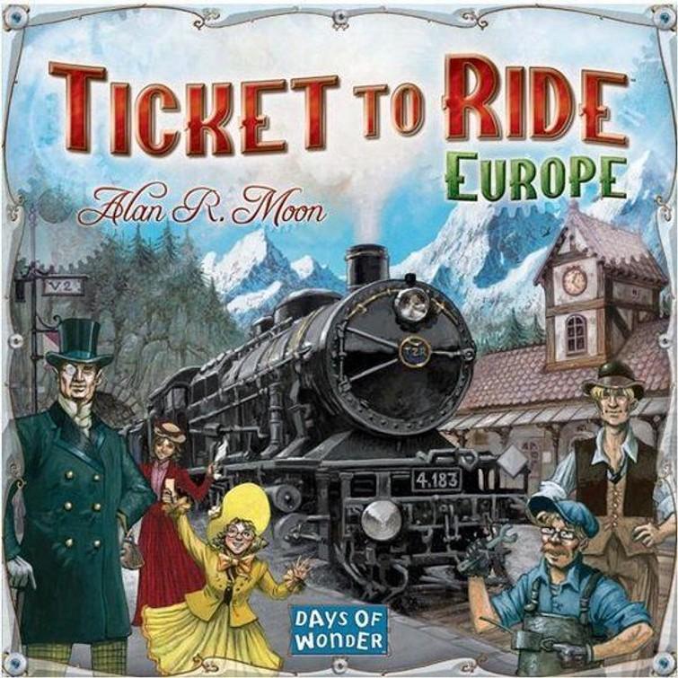 Ticket To Ride - Europe (eventueel met gratis uitbreidingsset)