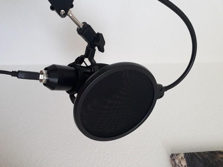 USB microfoon (met bureau-arm)
