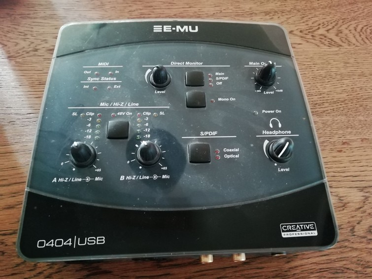 Audio (recording) interface E-Mu 0404 USB